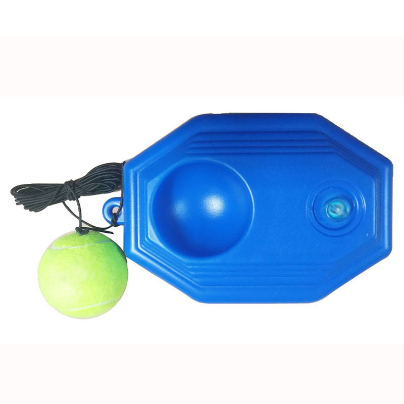 1 Set Tennis Trainer Tennis Base+Training Ball With Rope Durable Easy To Use FH99