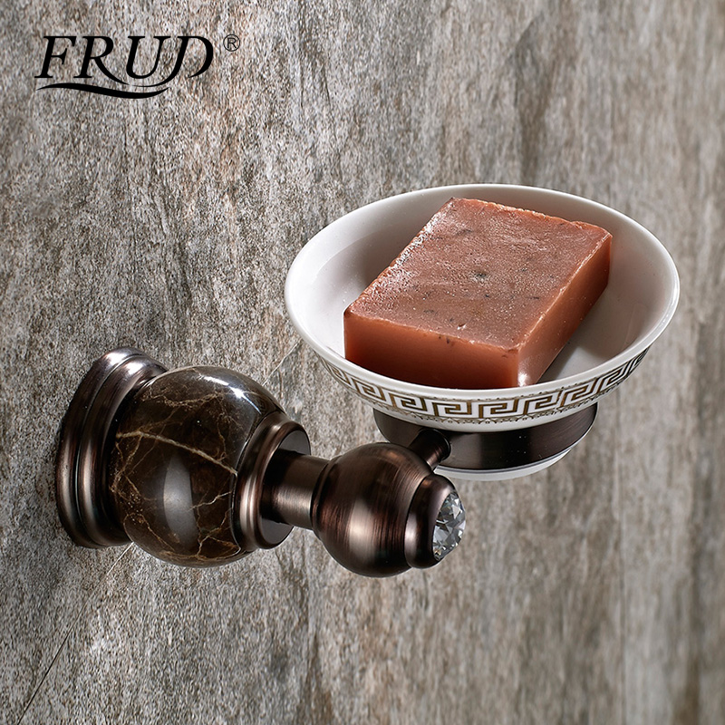 FRUD Vintage Soap Dishes Brass Wall-mounted Soap Dish Holder For Bathroom Storage Bathroom Accessories Carved Soap Box Y18035 original xiaomi mijia hl bathroom 5 in1 sets for soap tooth hook storage box and phone holder for bathroom shower room tool