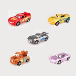 Disney pixar carros 3 para crianças jackson storm, cruz ramirez, carros de plástico de alta qualidade, modelos de desenhos animados, presentes de natal