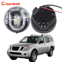Cawanerl 2 Pieces Car Accessories LED Front Fog Light DRL Daytime Running Lamp 12V For 2005
