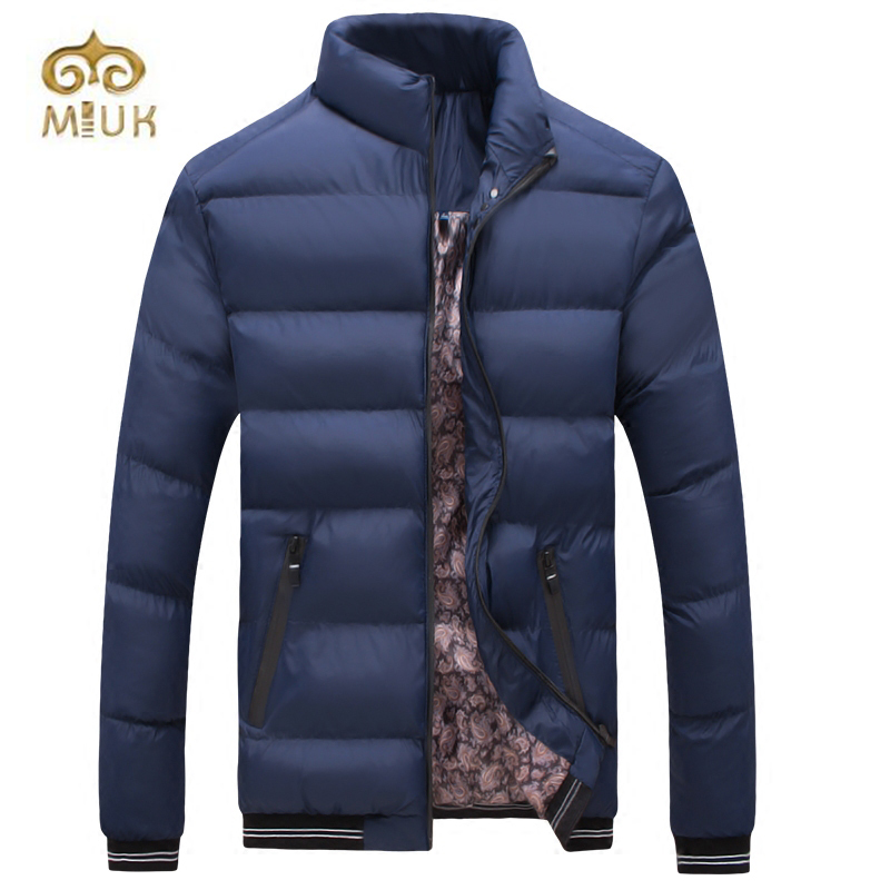 2016 Hot Sale XXL Size Fashion Solid Black Navy Red Khaki Cotton Stand Collar Winter Jacket Men Erkek Mont Coat hot sale cotton solid men tank top