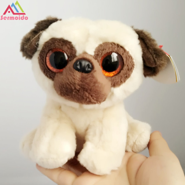 sermoido TY 6   Beanie Boos Rufus - Pug Dog Classic Big Eye Plush Toys  Stuffed Animals Kids Toys Children Toy Soft Toy DBP112 7448b3cb9