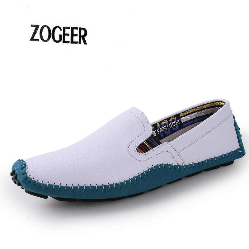 Italian Hand Sewing Male Genuine Leather Flats Men Moccasins Fashion Slip On Casual Driving Shoes Men