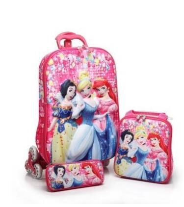Kids Rolling Case Kid's Trolley Case Children Travel Suitcase School Wheeled Backpack Bag Mochila Kid's Trolley Bags With Wheel