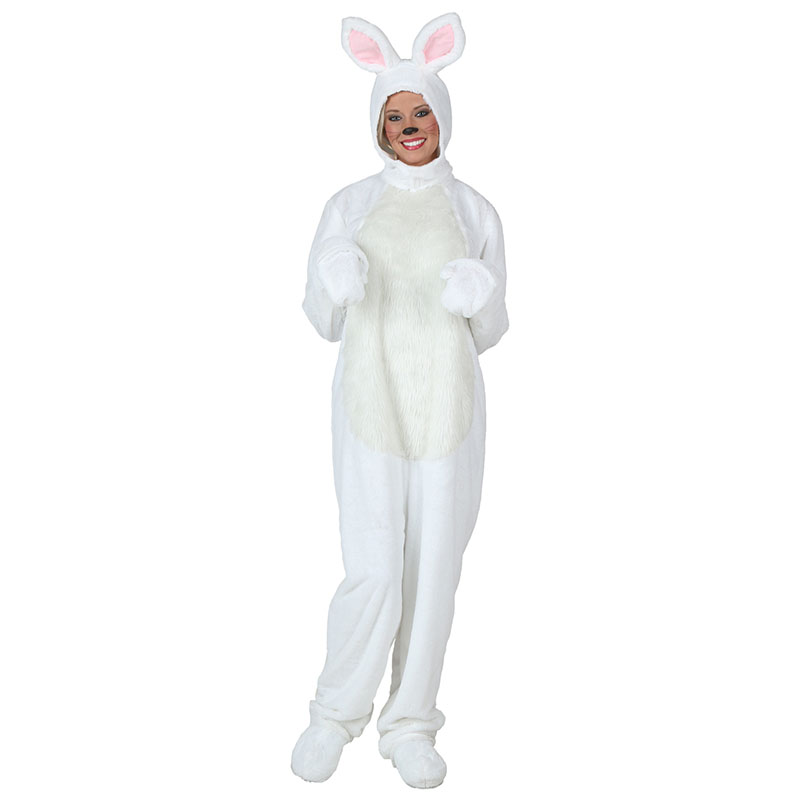 Cute White Rabbit Costume Cosplay Costumes For Women Lady Clothes Winter Warm Outfit Dress Up Cartoon Animal Clothes