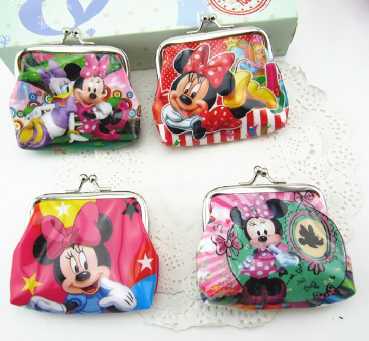 1PCS Baby Shower Party Minnie Cartoon Coin Purse Bags Kid Favors Birthday Gift PVC Money Bag Decoration Event Favors Gift high quality candy grabber kids birthday party favors gift desktop mini dolls grabber machine claw toys free shipping