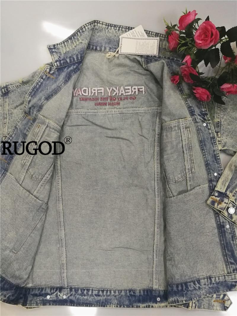 HTB1.12ucUGF3KVjSZFmq6zqPXXaV RUGOD 2019 New Autumn Funny Cartoon Print Long Denim Jacket Women Vintage Streetwear Punk Style Jean Jacket casaco feminino