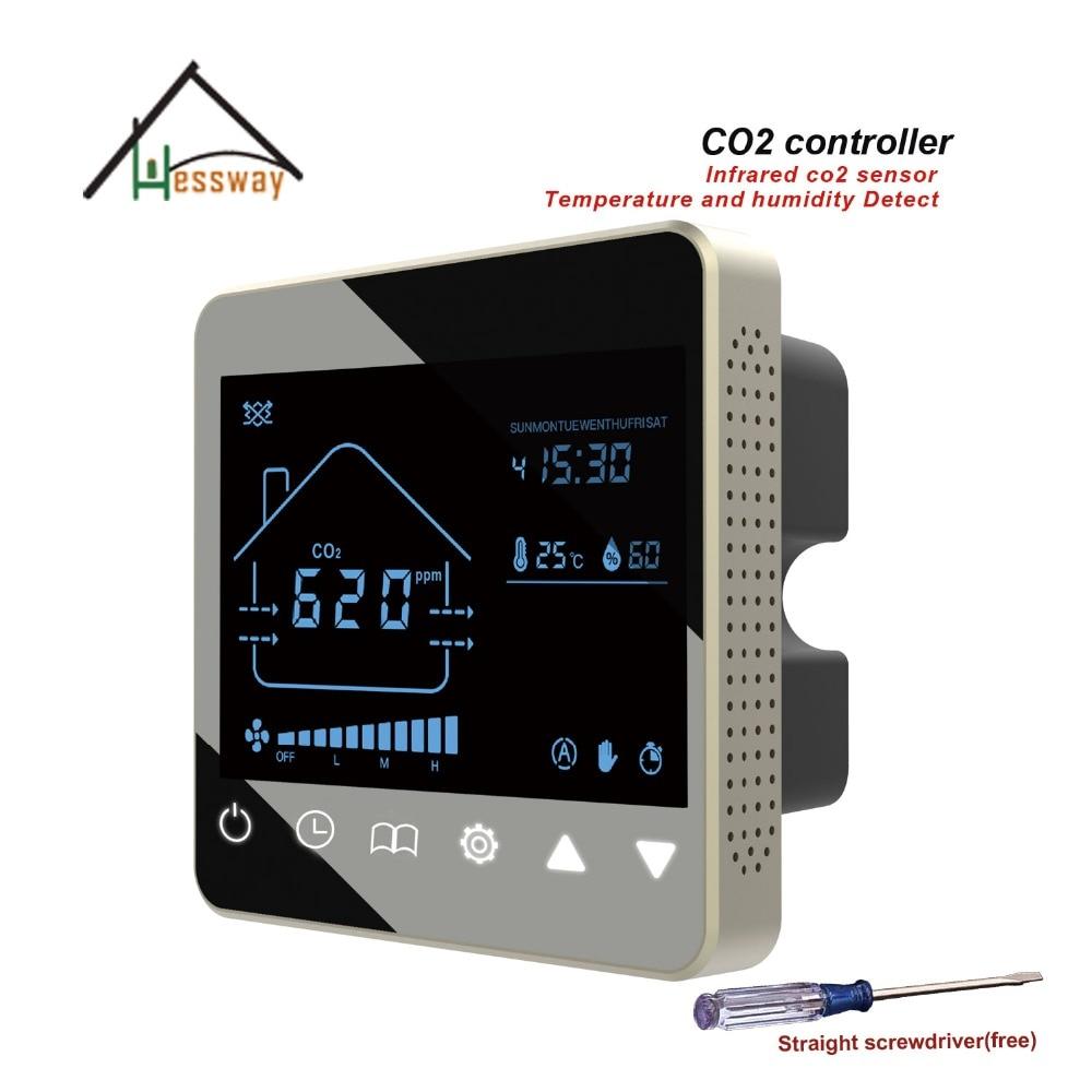 HESSWAY NDIR CDOAS CO2 régulateur de gaz contrôleur pour 3 vitesse air système
