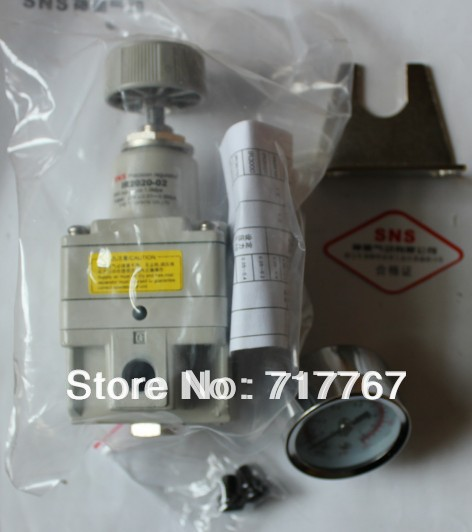 IR2020-02BG Precise pressure reduce valve SNS pneumatic parts SMC type precision regulator  with bracket and pressure gause smc type pneumatic solenoid valve sy5240 4lzd 01
