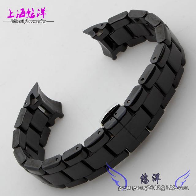 Promoção! 1 pcs de 22 mm cerâmica branca pulseira de diamante relógio geral