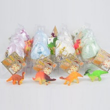 Free Shipping 12pcs/lot Novel Dinosaur Cracks Growing Eggs Educational Science Bionics Toys for Kids Best Gift