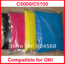 High quality color toner powder compatible for OKI C5000/C5100/5000/5100 Free shipping