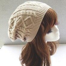 Womens Fall Fashion Hats Twist Pattern Beanies Winter Gorros for Female Knitted Warm Skullies Touca Chapeu Feminino 1MZ0504