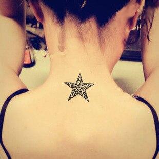 Vignette écologique tatouage imperméable combinaison cardiaque impression  léopard à cinq branches zèbre étoiles