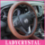 Ladycrystal Weel Direcção Do Carro Capa de Couro Esporte Para SUV Trilha Do Carro Styling Acessórios 38 CM Universal Cobertura de Volante