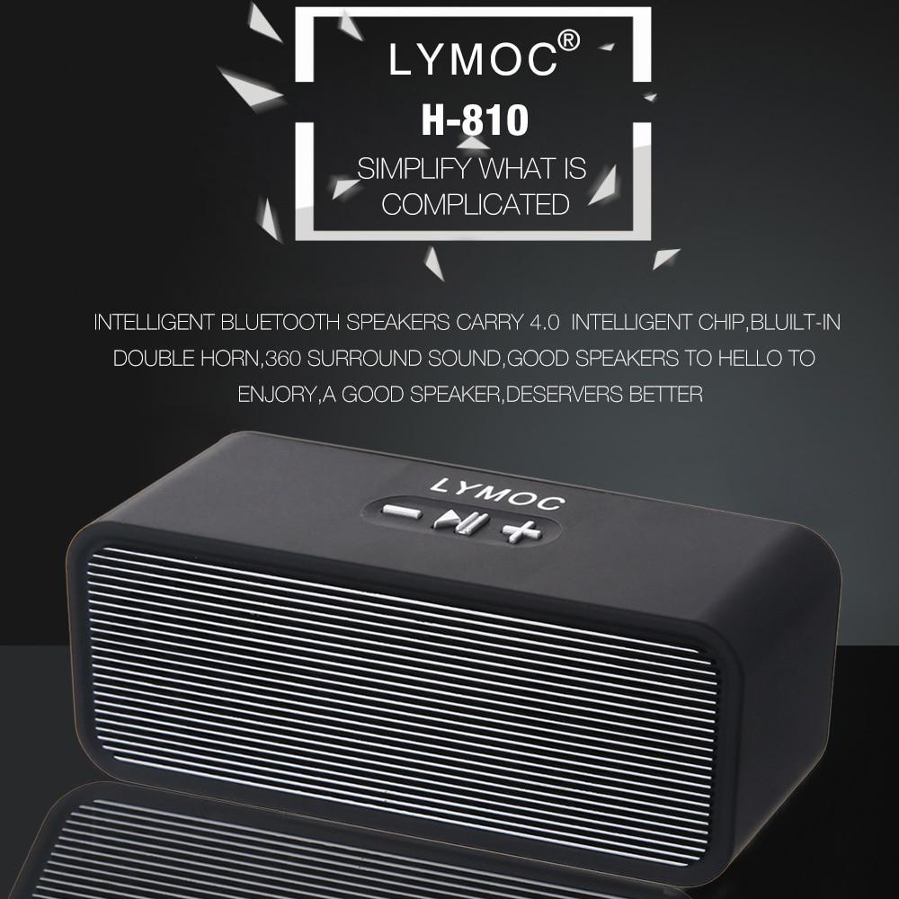 LYMOC Wireless Bluetooth Speakers Stereo Mini Portable Subwoofer Heavy Bass  MP3 Music TF Speaker Box HD MIC Handsfree for phone