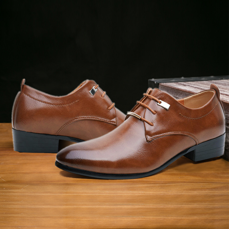 Oxford Cuir Italien De Noir Formelle Taille Hommes Classique Up 2018 38 Mode 48 Lace marron Véritable Plat Homme En Plus Robe Chaussures 4Wqx7fnw