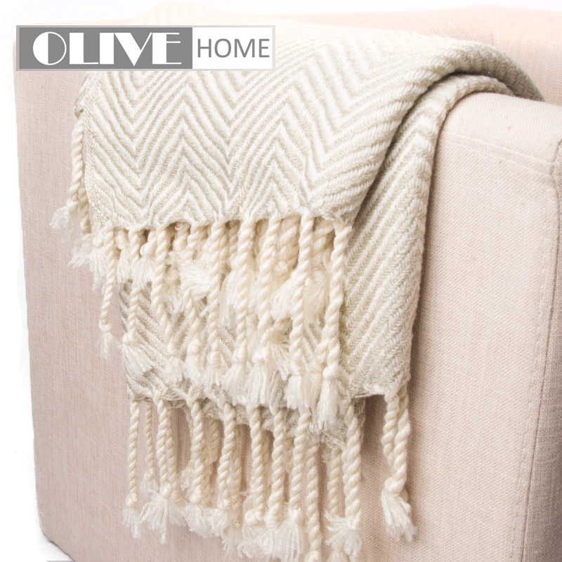 1PCS kids baby Blanket Solid Color Crochet Tassel Blanket Knitted ...