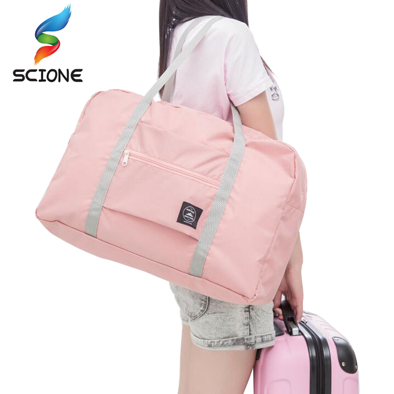 Hot Sports Gym Bags Portable Female Folding Storage Outdoor Training Travel HandBag Large Capacity Women Fitness Yoga Duffle Bag