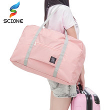 3cc725a05693 Hot Sports Gym Bags Portable Female Folding Storage Outdoor Training Travel  HandBag Large Capacity Women Fitness Yoga Duffle Bag