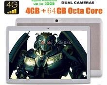 DHL Libre Android Tablet PC 10 pulgadas 3G 4G LTE 4 GB + 64 GB Octa core 1280×800 IPS de $ number MEGAPÍXELES de Doble tarjeta SIM FM bluetooth GPS tabletas