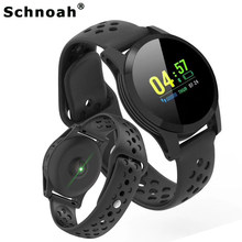 Schnoah Smart Montre Homme Pedometer Sport Watch Heart Rate Blood Pressure Monitor Digital Clock for Men Women Kids Children(China)