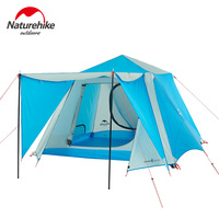 Naturehike Automatic Tents Outdoor Camping 4 6 Person Party Gazebo Tent Four Seasons Waterproof Large Camping Family Tent