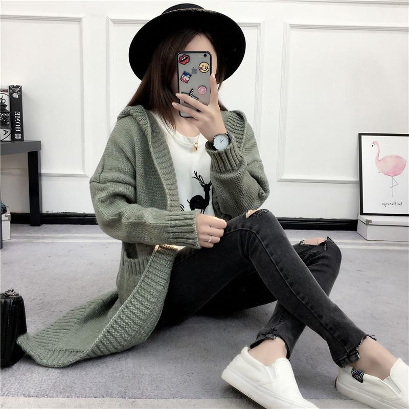 HTB1.14FSVXXXXX2XVXXq6xXFXXXw - Women Long Knitted Sweater Coat Hooded Sweater Cardigans JKP039