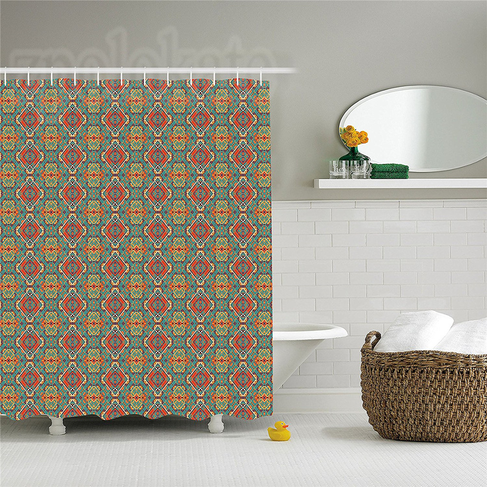 Native American Decor Shower Curtain Set Ethnic Navajo Indigenous Art Drawing Bathroom Accessories In Curtains From Home Garden On Aliexpress