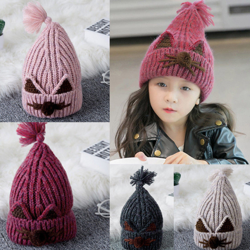 Hot sell Toddler Kids Baby Girl Boys Infant Winter Warm Crochet Knit Hat Beanie Cap Hat