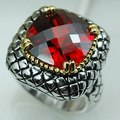 Garnet Women 925 Sterling Silver Ring F811 Size 6 7 8 9 10