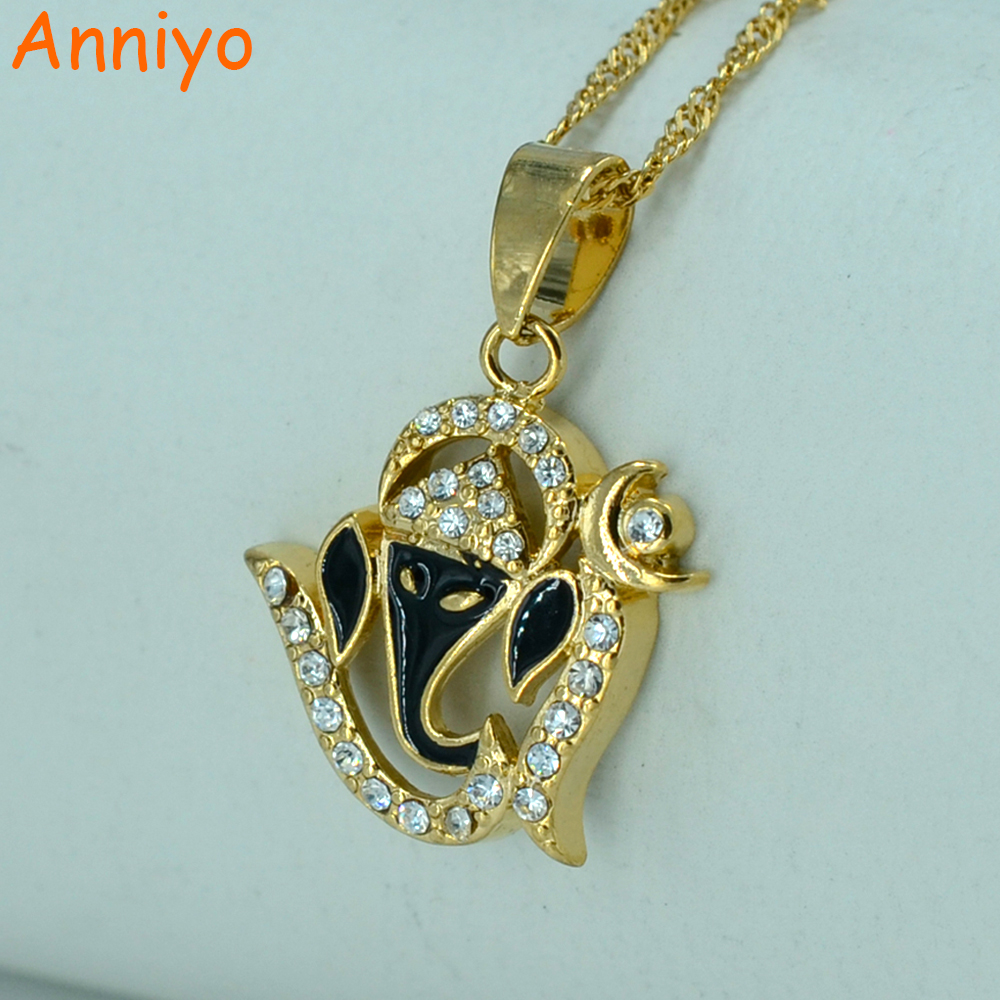 Anniyo India Yoga Necklace Pendant Women OHM Hindu Buddhist AUM OM Hinduism Jewelry Indian Religious Symbol #000210