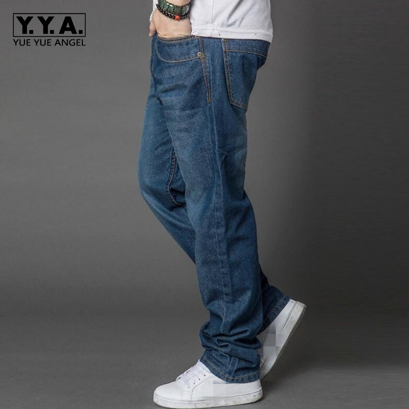 Top Spring New Arrival High Quality Brand Stylish Mens Loose Plus Size Denim Casual Baggy Jeans Long Trousers Cotton Pants