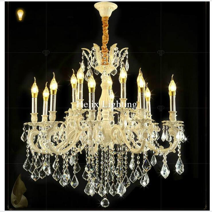 Modern Ivory Crystal Chandelier Living Room lustres Decoration Pendant LED AC Chandeliers Crystal Home Lighting Indoor