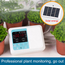 Intelligent Garden Automatic Watering Device Solar Energy Charging Water Pump Timer System Potted Plant Drip Irrigation cheap Other with 18650 lithium ion battery 4 style