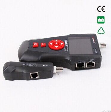 Livraison gratuite Noyafa NF-8601A câble longueur testeur réseau testeur schéma de câblage pour RJ45/RJ11/BNC avec PoE/PING tests