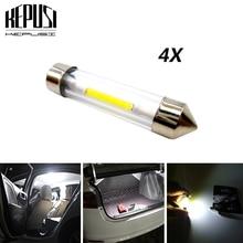 цена на 4pcs C5W COB Car Led Bulbs 41mm 39mm 36mm 31mm Car Interior Festoon Dome Reading Light Source White Side License plate Lamp 12V