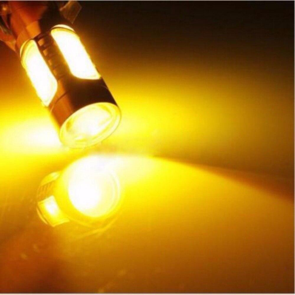1 Pz Universale Cob Led 1156py Py21w Bau15s Lampadine Luce Di Arresto Indicatori Di Direzione Ambra Giallo Nebbia Di Guida Auto Freno Di Backup Lampade A Luce