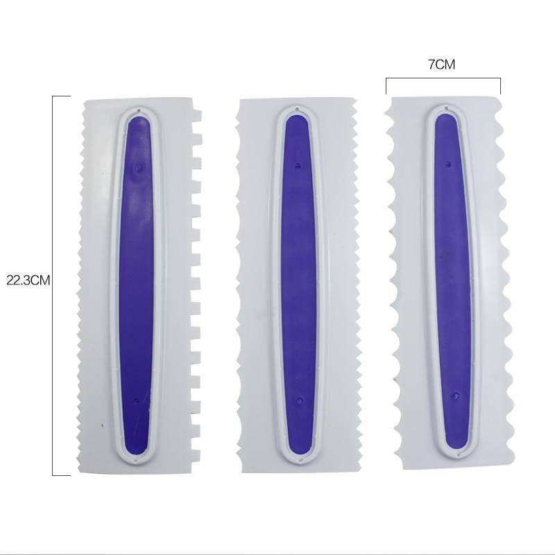 3pcs vijolična peciva Zmes za umazanijo iz plastike Fondant Spatulas darilo strgalo za peko okrasne orodje darilo kuhinjsko orodje za peko na žaru 52127