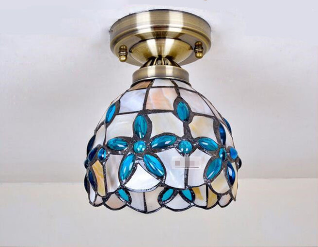 Blue Lilac Ceiling Light 12