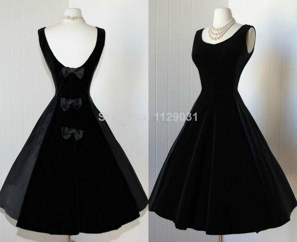Popular 1950s Black Cocktail Dress-Buy Cheap 1950s Black Cocktail ...