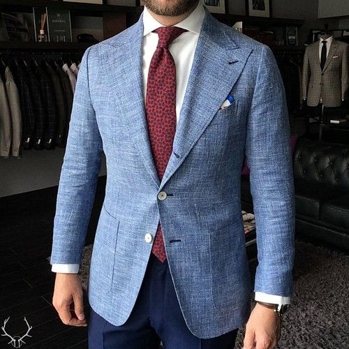 2017 Latest Coat Pant Designs Blue Linen Beach Wedding Men Suit Slim Fit 2 Piece Groom Tuxedo Custom Prom Blazer Terno Masculino