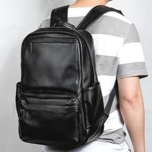 Lielang男性本革バックパックのラップトップ防水男性スクールバッグ高品質男性デイパックカジュアルトラベルバックパックバッグ