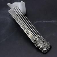 Высокое качество Прохладный Для мужчин, придание формы шаблон для бороды, из нержавеющей стали гребень Для мужчин, для стрижки волос, бороды
