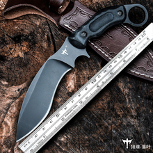 Voltron Outdoor sharp straight knife special battle high hardness knife survival wild, carry-on self-defense military knife