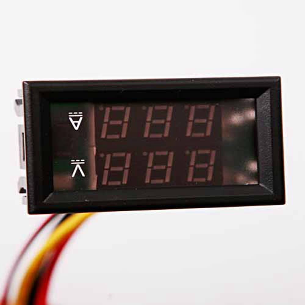 New Mini Digital Voltmeter Ammeter Tester DC 0-100V Panel Amp Volt Voltage Current Meter Tester Dual LED Display 48x29x21mm