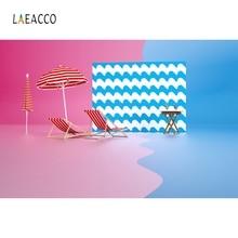 Laeacco Cartoon Parasol Summer Pool Holiday Backdrop Photography Background Customized Photographic Backdrops For Photo Studio