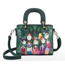 New Fashion Women Messenger Bags Handbag 3D Digital Cartoon Image Printing PU Leather Shoulder Bag Female Tote Crossbody Bags цена