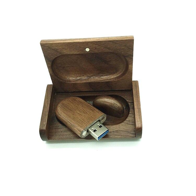 Wedding Gift walnut Wooden USB 3.0 flash drive pen drives Maple wood + Packing box 8GB 16GB 32GB 64GB memory stick Gift
