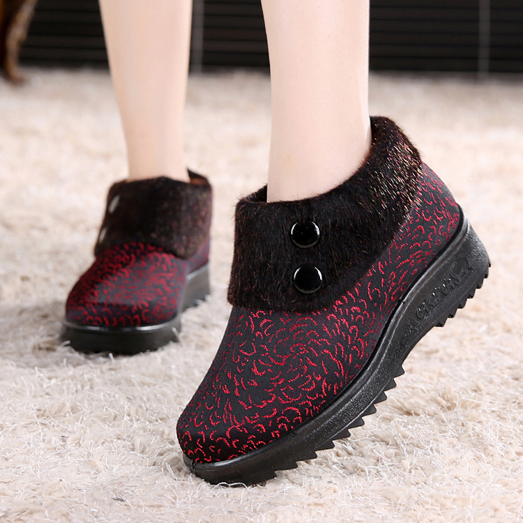 Cotton-made beijing shoes women's shoes winter quinquagenarian cotton-padded shoes soft outsole slip-resistant mother shoes plus managing projects made simple